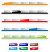 Set of vector aqua web 20 site navigation tabs and buttons Per