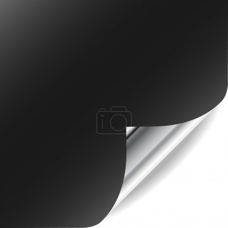 Vector page with curled corner and shadow. Perfect for adding te