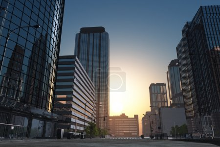 Photo for The modern buildings of the city skyscrapers. - Royalty Free Image
