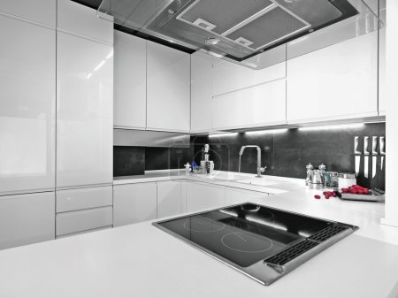 Photo for Modern white kitchen - Royalty Free Image