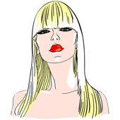 Vector blond girl