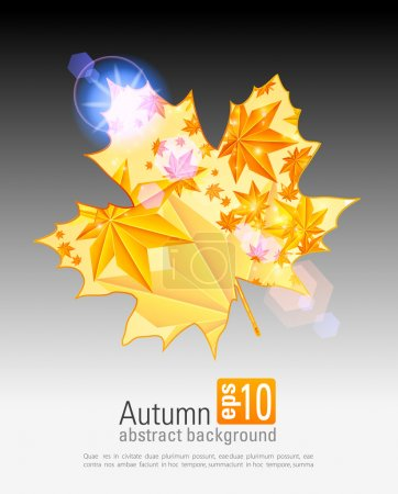 Nice autumn background with glowing lights. eps 10
