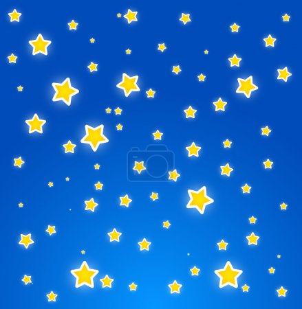 At night. Sky with stars.