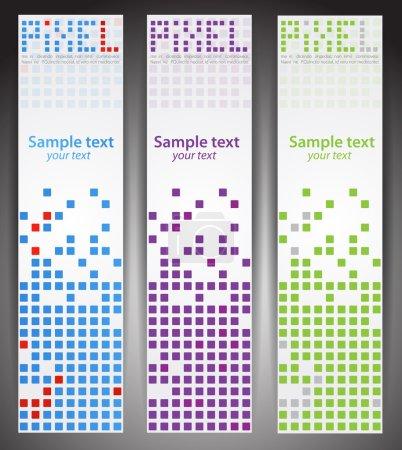 Web banners. Pixel art. Vector