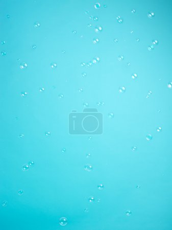 Blue background with soap balloons