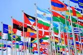 """Постер, картина, фотообои """"Бразилия и Аргентина флаги и Флаги национальные стран мира"""""""