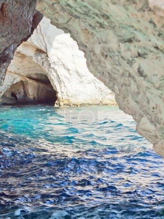 Photo for Amazing blue caves in Zakinthos island, Greece - Royalty Free Image
