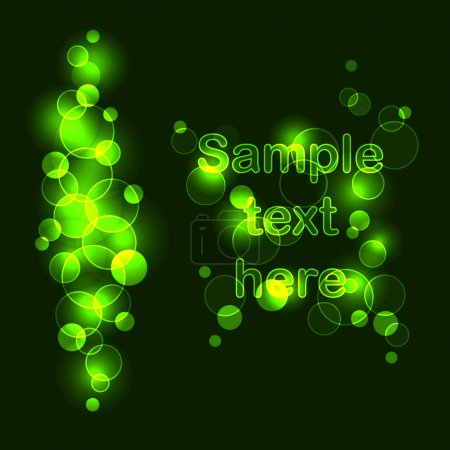 Abstract hi tech background with glow effect