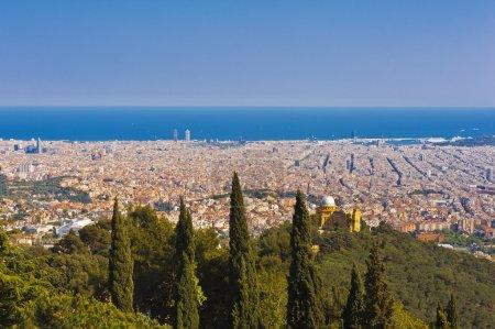 Barcelona from the Tibidabo hill