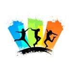 Creative Conceptual Abstract Design Of Dancing Sil...