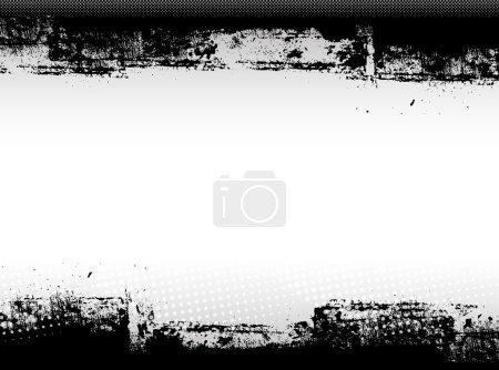 Abstract Grunge Border Graphic Design
