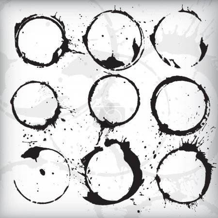 Grunge Stains Vector Set