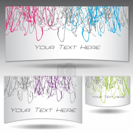 Three Set of Dripping Paint Color on Isolated Silver Background