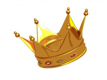 Illustration pour Créatif abstrait isolé Golden Crown Illustration Design - image libre de droit