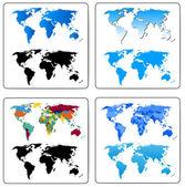Set of Decorative World Maps