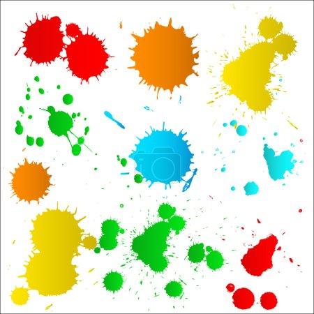 Colorful Paint Drops Set