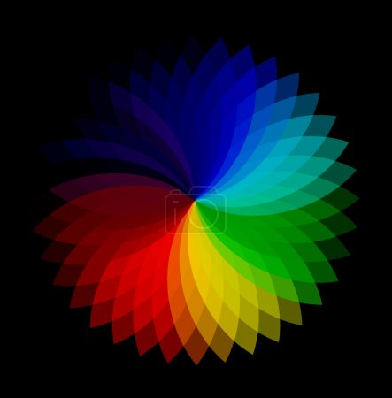 Color Wheel Vector Background