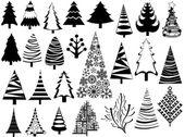 Set of Christmas Tree Icons