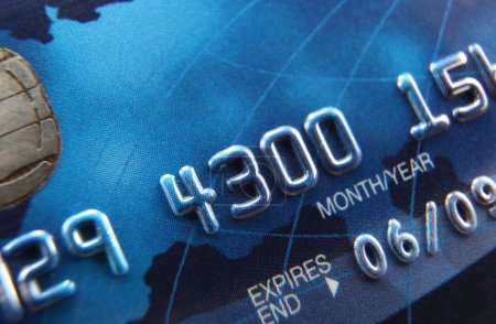 Close-up of a credit card
