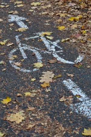 Photo for Bike/cycling lane in a city - Royalty Free Image
