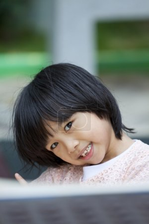 Photo for Asian young girl smiling - Royalty Free Image