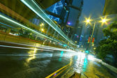 """Постер, картина, фотообои """"движение в городе ночью"""""""