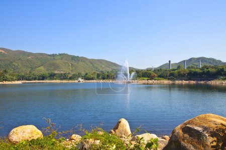 Lake under blue sky
