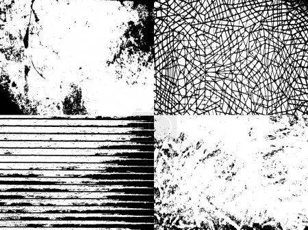 Illustration for Set of abstract vector grunge textures for your design - Royalty Free Image