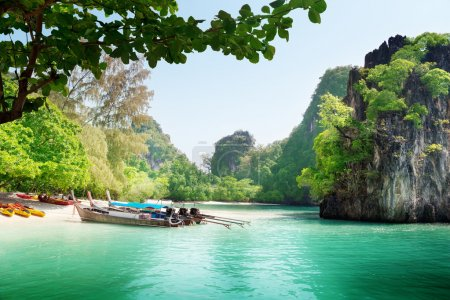 Photo for Long boats on island in Thailand - Royalty Free Image
