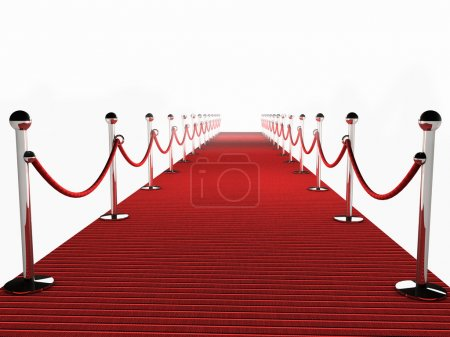 Photo for Red Carpet over white Background - Royalty Free Image