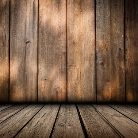 Photo for Wooden panel wall interior background - Royalty Free Image