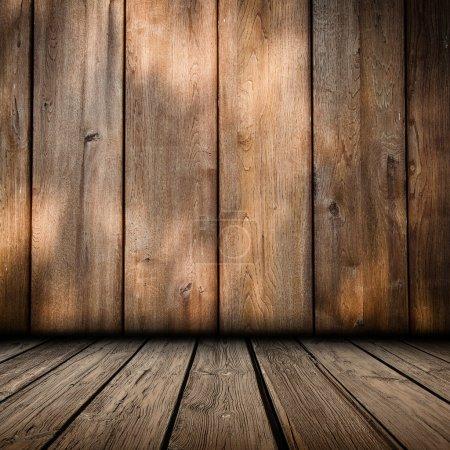 Photo pour Panneau en bois mur fond intérieur - image libre de droit