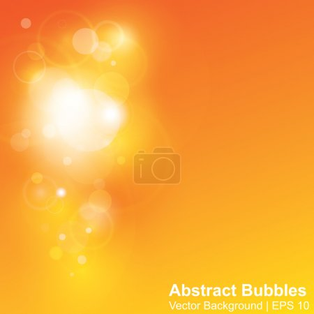 Yellow and orange light bubbles abstract vector