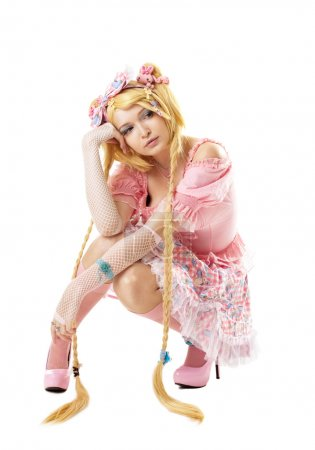 Beauty woman like lolita cosplay character