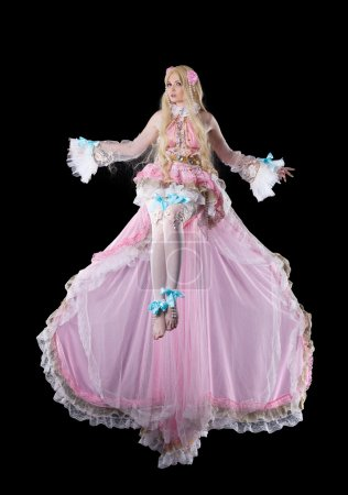 Attractive girl in fary-tale doll cosplay costume ...