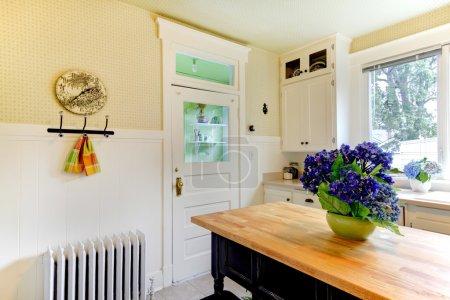 Photo pour Conception de cuisine avec radiateur antique . - image libre de droit