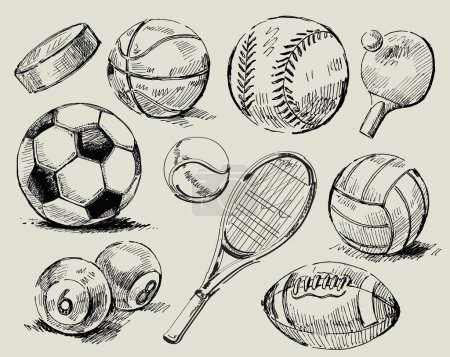 Photo for Vector illustration - Balls for team sports - Royalty Free Image