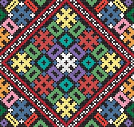 Ukrainian ethnic seamless ornament, #75, vector