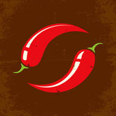 Retro illustration Chili
