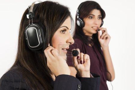 Portrait of a female customer services operator