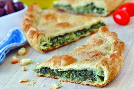 Photo for Spanakopita - Traditional greek spinach pie - Royalty Free Image