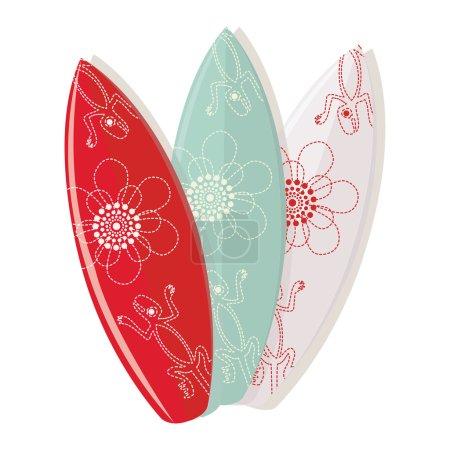 Surf board designs set