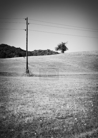 Photo for Old electrical pylon - Royalty Free Image