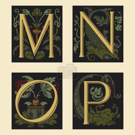 Sixteenth-Century alphabet M N O P
