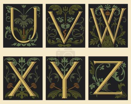 Sixteenth-Century alphabet U V W X Y Z