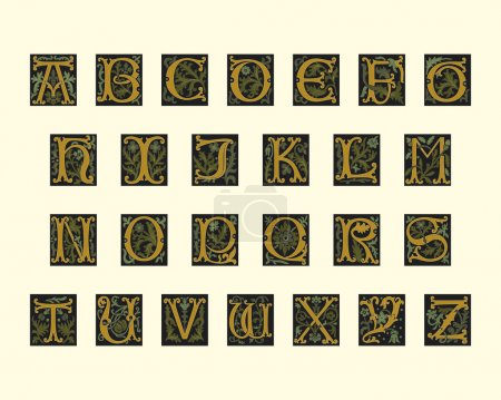 Alphabet of early 16th century