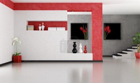 Empty minimalist living room