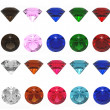 3d render of jewels of different shades on a white...