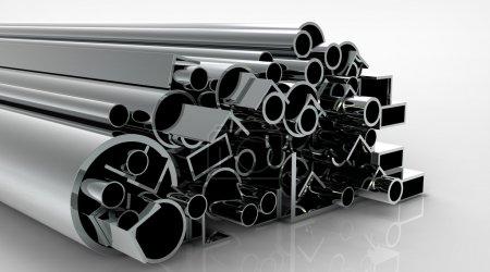 tuyaux métalliques