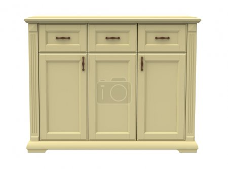 Photo for Chest of drawers wooden on a white background - Royalty Free Image